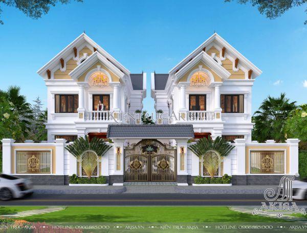 Thiết kế biệt thự đơn lập tân cổ điển đẹp (CĐT: ông Ngôn - Hải Dương) BT22360