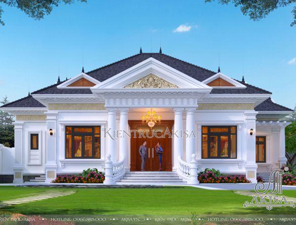 Thiết kế nhà vườn 1 tầng đẹp tại Vĩnh Phúc (CĐT: ông Ánh) BT12395