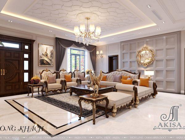 Thiết kế nội thất nhà đẹp tân cổ điển (CĐT: ông Vũ - Hưng Yên) NT12341