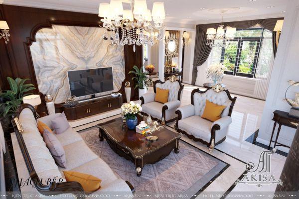 Trang trí nội thất phong cách tân cổ điển đẹp đẳng cấp (CĐT: bà Ngân - Hải Phòng) NT32370