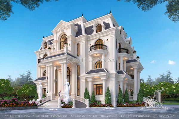 Thiết kế dinh thự kiểu Pháp 3 tầng đẹp lung linh (CĐT: ông Toàn - Yên Bái) BT32403