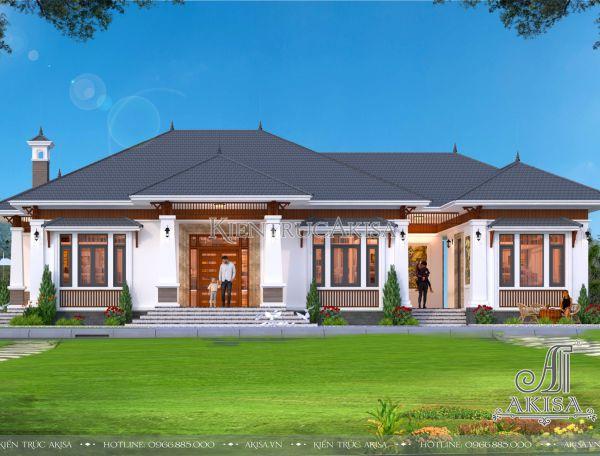 Mẫu nhà đẹp 1 tầng hiện đại 200m2 chi phí 1,1 tỷ đồng tại Bắc Giang BT11404