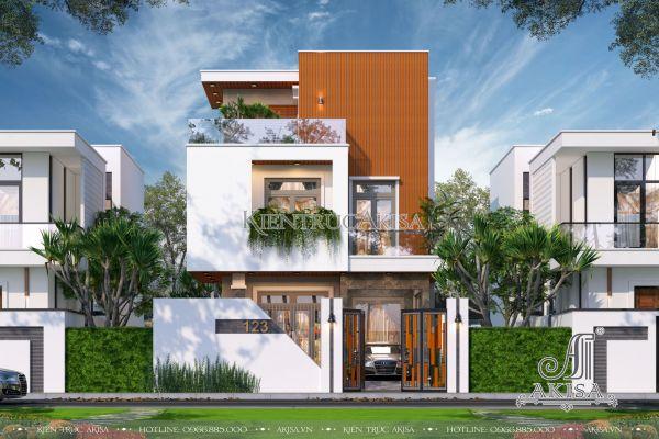 Mẫu biệt thự phố 3 tầng hiện đại mái bằng đẹp (CĐT: bà Hồng Anh - Đắk Lắk) BT31410