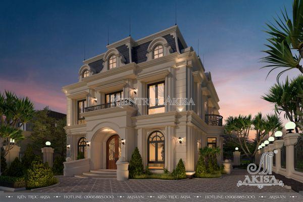 Mẫu biệt thự Châu Âu 2 tầng kiểu Pháp đẹp mê mẩn (CĐT: ông Hồng - Phú Thọ) BT22413