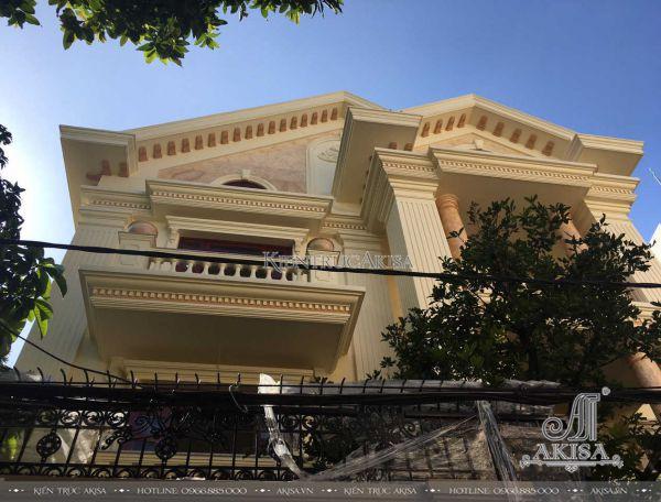 Thi công nhà ở trọn gói biệt thự 3 tầng tại Sài Gòn (CĐT: ông Hiếu) TC32022