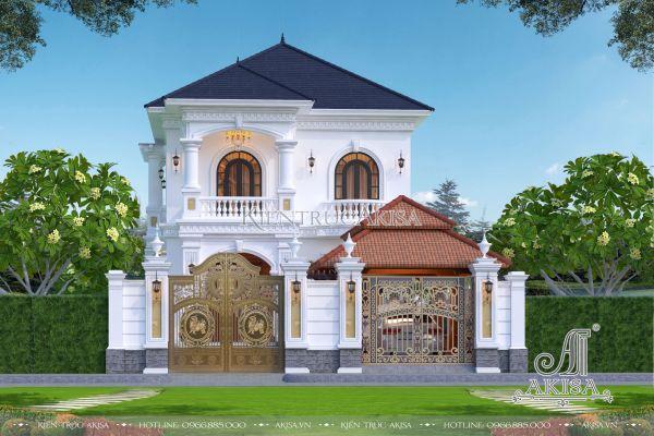 Mẫu biệt thự đẹp tân cổ điển 2 tầng tại Vũng Tàu (CĐT: ông Thiện - Châu Đức) BT22418