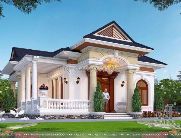 Thiết kế nhà 1 tầng 120m2 4 phòng ngủ (CĐT: ông Quốc - Kiên Giang) BT12419