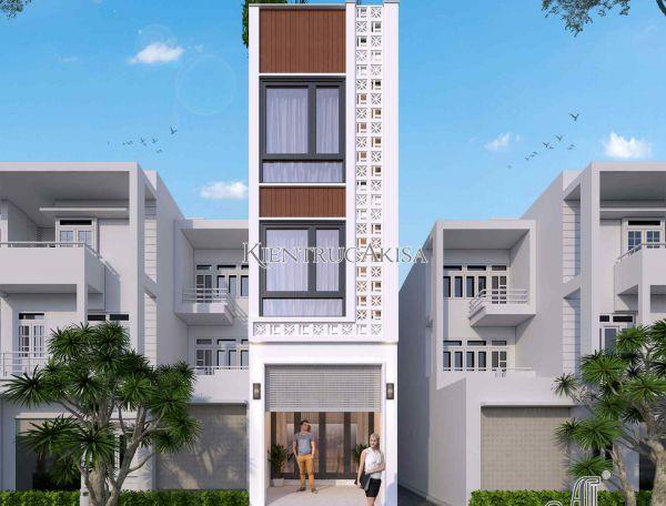 Mẫu nhà phố 4 tầng mặt tiền 3m kết hợp kinh doanh (CĐT: bà Thủy - Hà Nội) KT41422