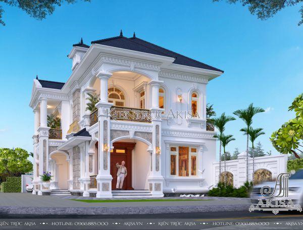 Mẫu thiết kế nhà đẹp 2 tầng tân cổ điển (CĐT: ông Nhân - Huế) BT22423
