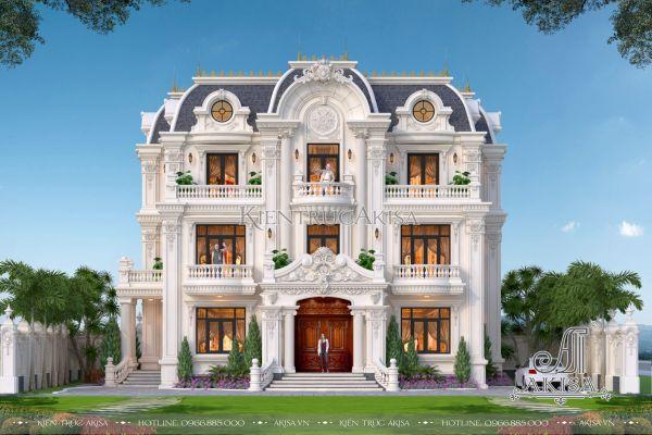 Thiết kế biệt thự Pháp 3 tầng tân cổ điển đẹp (ông Ngừng - Hồ Chí Minh) BT32427