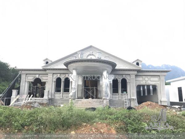 Thi công biệt thự tân cổ điển 1 tầng tại Hòa Bình (CĐT: ông Cảnh - Lạc Thủy) TC12339