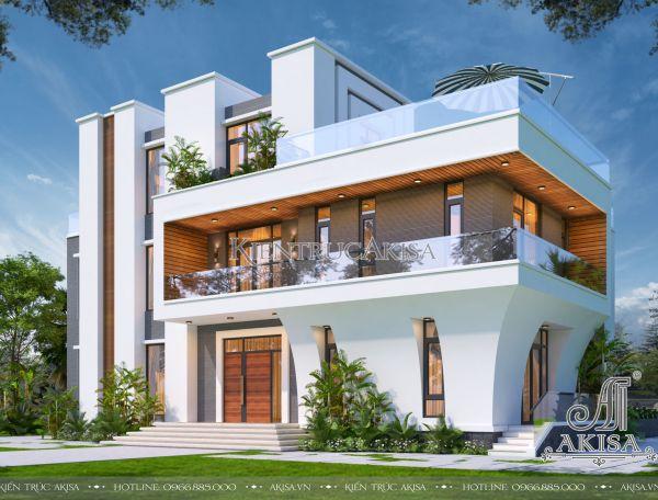 Thiết kế biệt thự Villa hiện đại 3 tầng (CĐT: ông Phú - Long An) BT31429