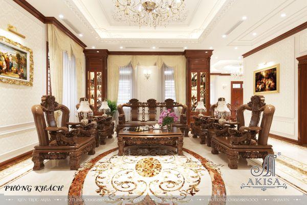 Thiết kế nội thất nhà ở tân cổ điển (CĐT: ông Long - Yên Bái) NT12330