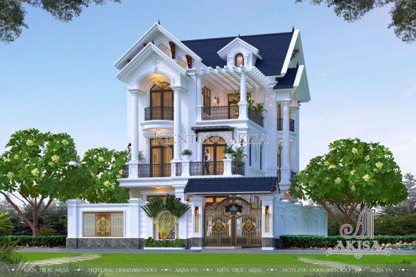 Mẫu biệt thự 5 phòng ngủ phong cách tân cổ điển (CĐT: ông Toản - Hưng Yên) BT32435