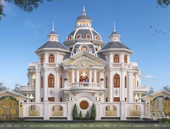 Mẫu biệt thự lâu đài 3 tầng tân cổ điển châu Âu (CĐT: ông Phú - Ninh Bình) BT32432