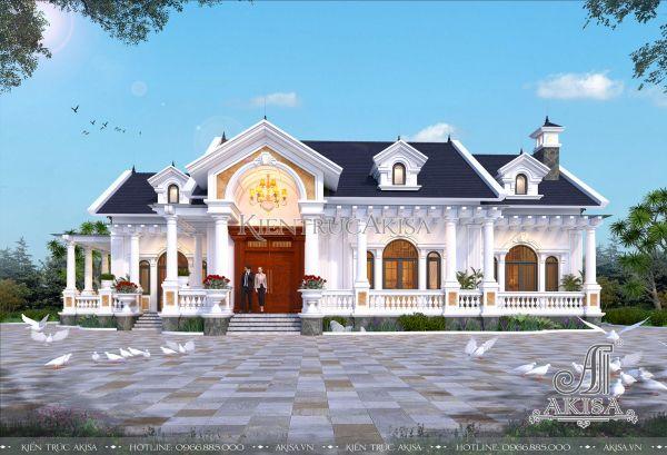 Mẫu nhà 1 tầng 3 phòng ngủ tân cổ điển siêu đẹp (CĐT: ông Ninh - Vũng Tàu) BT12436