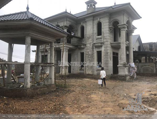 Giám sát thi công biệt thự 2 tầng tại Thái Nguyên (CĐT: ông Tùng - Phổ Yên) TC22326