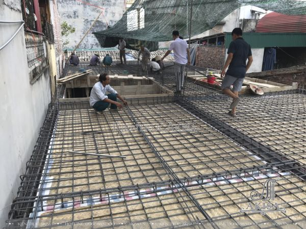 Tiến độ thi công nhà phố tân cổ điển Pháp 3 tầng (CĐT: ông Trường - Thái Bình) TC32433