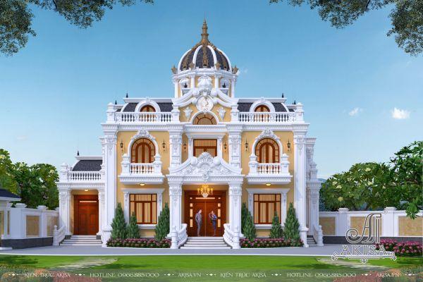 Thiết kế biệt thự 2 tầng tân cổ điển Pháp (CĐT: ông Công - Hải Dương) BT22438
