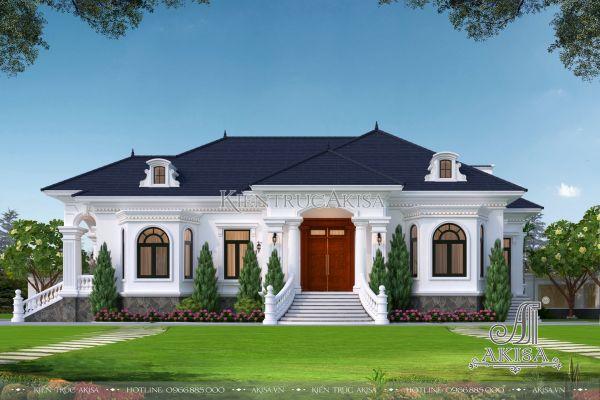 Tư vấn mẫu biệt thự vườn 1 tầng bán cổ điển đẹp (CĐT: ông Cẩn - Vĩnh Long) BT12439