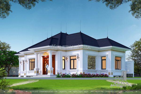Biệt thự mini 1 tầng đẹp phong cách châu Âu 150m2 (CĐT: ông Hùng - Ba Vì, Hà Nội) BT12441