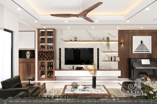 Thiết kế nội thất hiện đại nhẹ nhàng tại KĐT Gamuda (CĐT: bà Dung - Hà Nội) NT11071