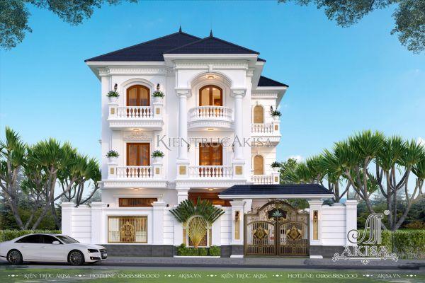 Mẫu nhà biệt thự tân cổ điển 3 tầng đẹp tại Thanh Hóa (CĐT: bà Hường - KĐT Đông Sơn) BT32442