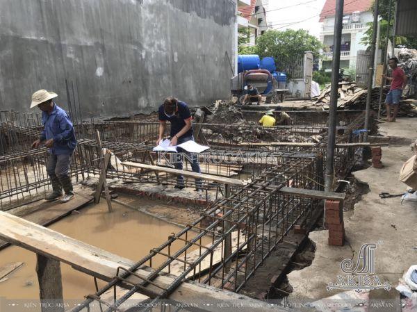 Hình ảnh công trình đang thi công nhà 3 tầng ông Mộc - Hải Phòng TC32416