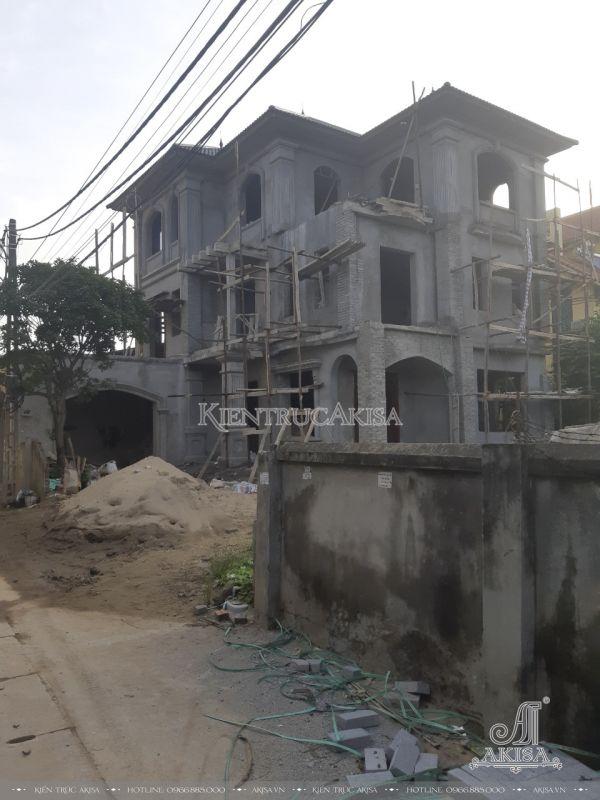 Hình ảnh thi công biệt thự ông Quyền - Hà Nội TC32327
