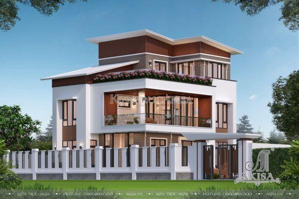 Biệt thự mái lệch 3 tầng hiện đại (CĐT: ông Thanh - Quốc Oai) BT31447