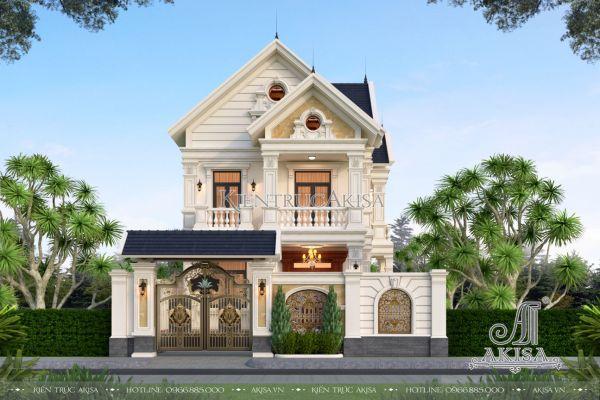 Mẫu nhà biệt thự 2 tầng mái Thái đẹp (CĐT: bà Chúc - Yên Bái) BT22453
