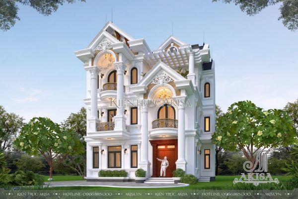 Biệt thự châu âu 3 tầng tân cổ điển mái Thái (CĐT: ông Bàng - Hà Nội) BT32454
