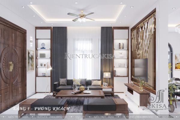 Không gian nội thất hiện đại biệt thự 4 phòng ngủ (CĐT: ông Quốc - Kiên Giang) NT12419