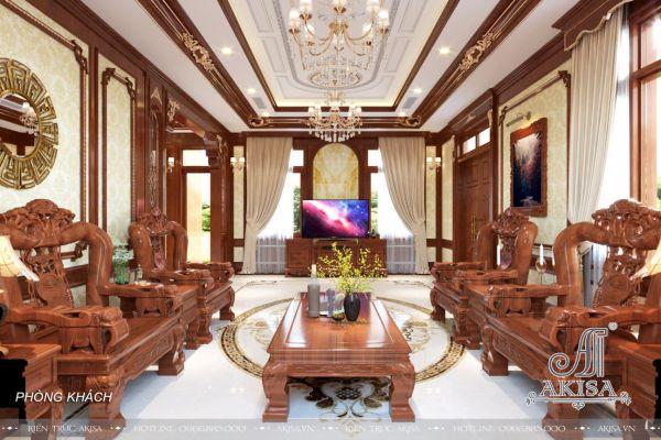 Thiết kế nội thất gỗ tự nhiên đẹp đẳng cấp (CĐT: bà Hường - Thanh Hóa) NT32442