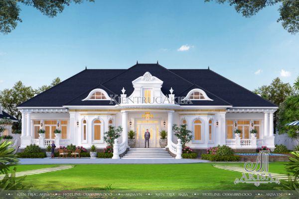 Thiết kế biệt thự vườn nghỉ dưỡng 1 tầng 500m2 tân cổ điển (CĐT: ông Hưng - Cà Mau) BT12471