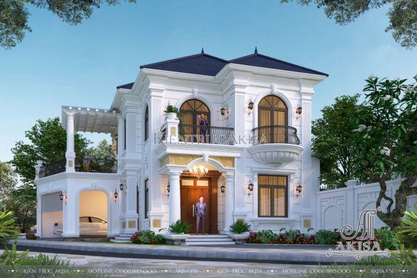 Vẻ đẹp biệt thự 2 tầng tân cổ điển 125m2 (CĐT: ông Hà - Hà Giang) BT22473