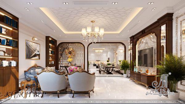 Thiết kế nội thất nhà phố đẹp (CĐT: ông Trường - Thái Bình) NT32433