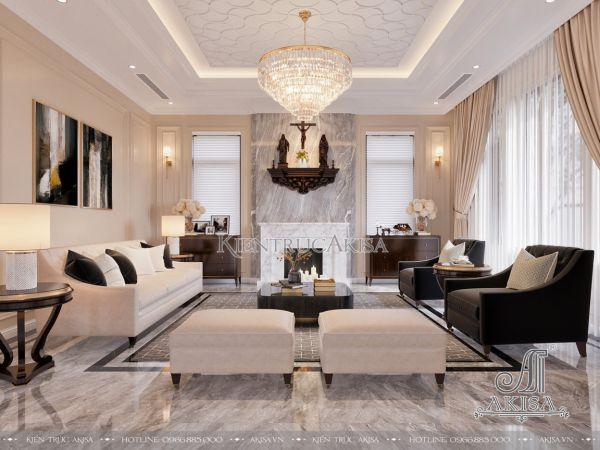 Thiết kế nội thất biệt thự phong cách Bắc Âu (CĐT: bà Hảo - Hải Phòng) NT22443
