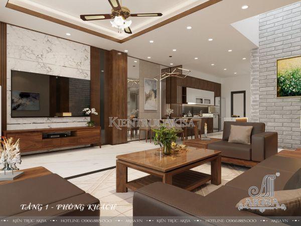 Thiết kế nội thất nhà phố phong cách hiện đại (CĐT: ông Mộc - Hải Phòng) NT32416