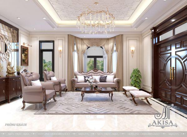 Thiết kế nội thất biệt thự đẹp phong cách Art Deco (CĐT: ông Cẩn - Vĩnh Long) NT12439