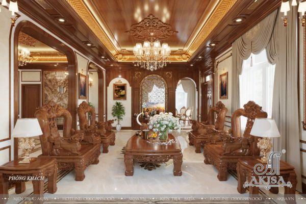 Mẫu nội thất gỗ Hương biệt thự đẹp đẳng cấp (CĐT: ông Kiên - Ba Vì, Hà Nội) NT22446