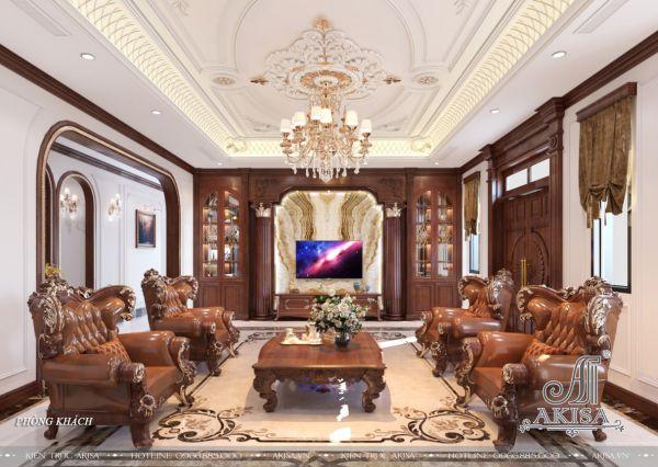 Mẫu nội thất cao cấp tân cổ điển đẹp (CĐT: ông Điền - Ninh Bình) NT12411