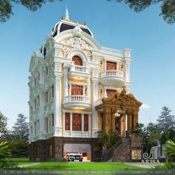 Mẫu biệt thự cổ điển đẹp ấn tượng (CĐT: ông Tiến - Nghệ An) BT43474
