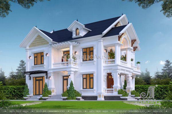 Biệt thự mái thái 2 tầng 4 phòng ngủ (CĐT: ông Tú - Thái Nguyên) BT22476