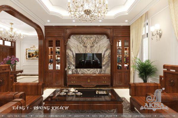 Mẫu thiết kế nội thất biệt thự tân cổ điển (CĐT: ông Quyền - Đông Anh) NT32327