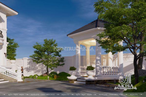 Thiết kế cảnh quan sân vườn biệt thự tân cổ điển (CĐT: ông Hạ - Bắc Giang) SV22444