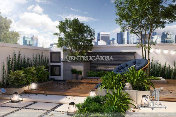 Thiết kế sân vườn biệt thự Gamuda (CĐT: ông Tú - Gamuda) SV11238