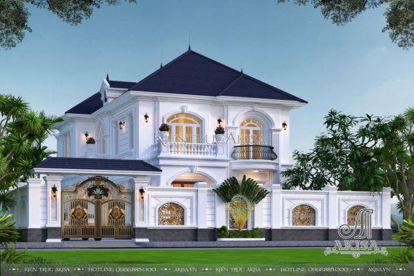 Biệt thự 2 tầng phong cách tân cổ điển đẹp hoa mỹ (CĐT: ông Khang - Phan Thiết) BT22483