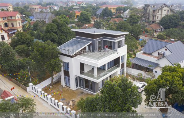 Thiết kế & giám sát thi công biệt thự 3 tầng hiện đại (CĐT: ông Thanh - Quốc Oai) TC31447