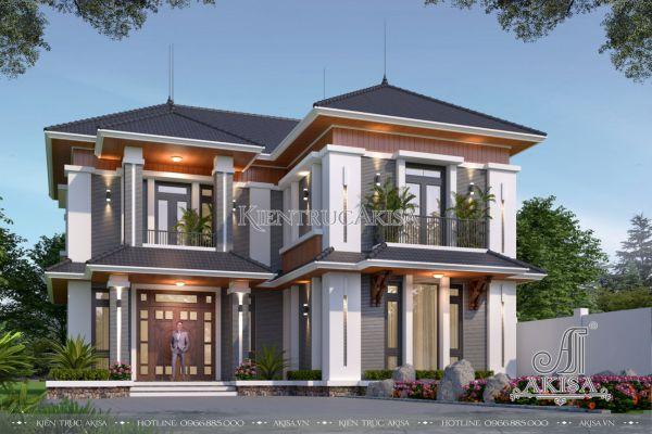 Thiết kế biệt thự vườn 2 tầng hiện đại (CĐT: ông Tuyến - Hưng Yên) BT21488